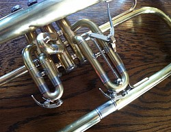 This flugelhorn didn't' have any waterkeys and trigger when it came in