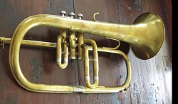 K and H Flugelhorn before restoration