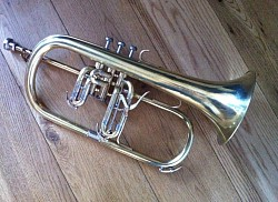 K and H flugelhorn after restoration
